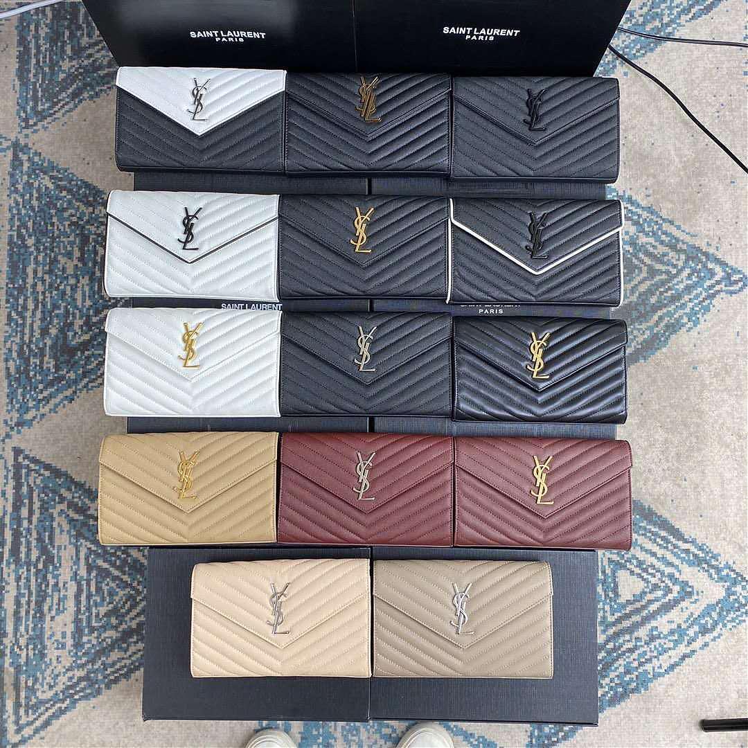 新款圣罗兰包包woc鱼子酱信封包YSL颜色集结链条包包