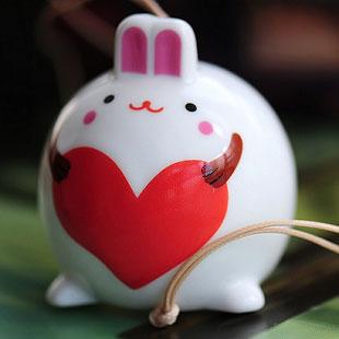 大肚子兔挂件包挂