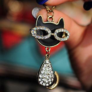 眼镜猫咪项链